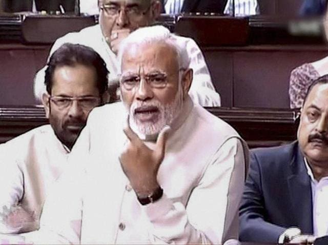 "Prime Minister Narendra Modi while speaking in the Rajya Sabha termed incidents of ""atrocity"" as ""a blot"" on the nation."