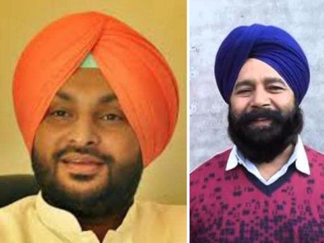 Congress MP RavneetSingh Bittu and SADMPSher Singh Ghubaya.