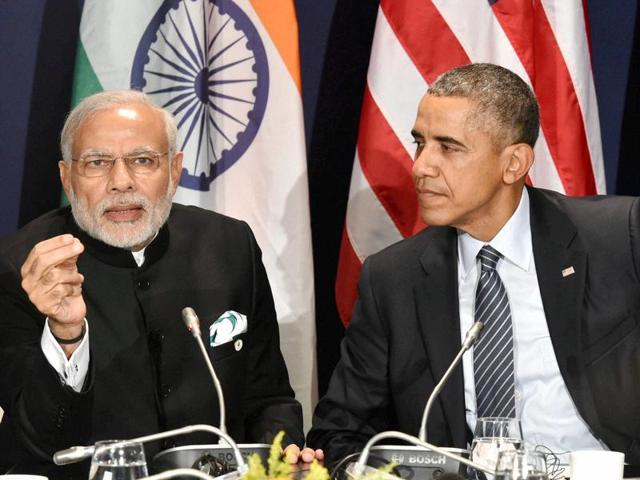 US President Barack Obama met PM Modi in Paris on the sidelines of the United Nation's climate change summit on Monday, their sixth meeting since last September.