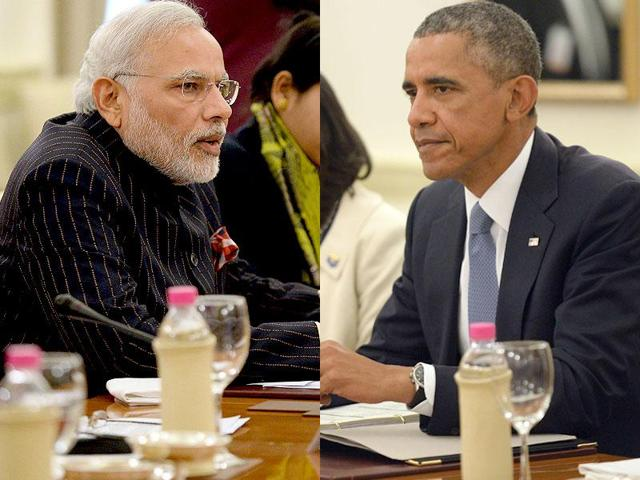 Prime Minister Narendra Modi and US President Barack Obama, in a meeting during the CoP 21, UN Climate Change Conference in Paris.