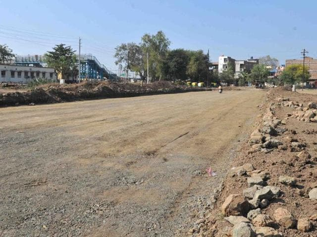The four-lane road project took off a couple of months ago but has been facing problems in connection with land.