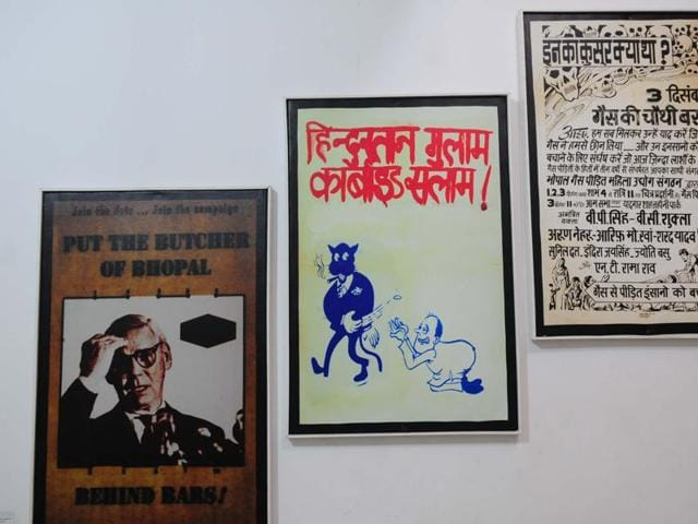 The memoirs at the 'Remember Bhopal' museum in Bhopal.