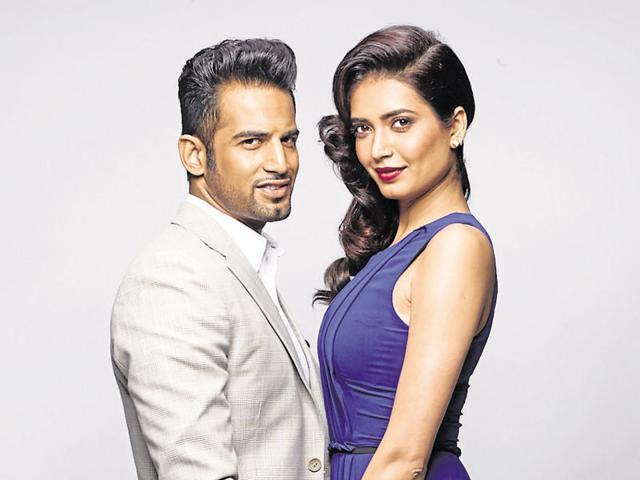 Upen Patel with Karishma Tanna