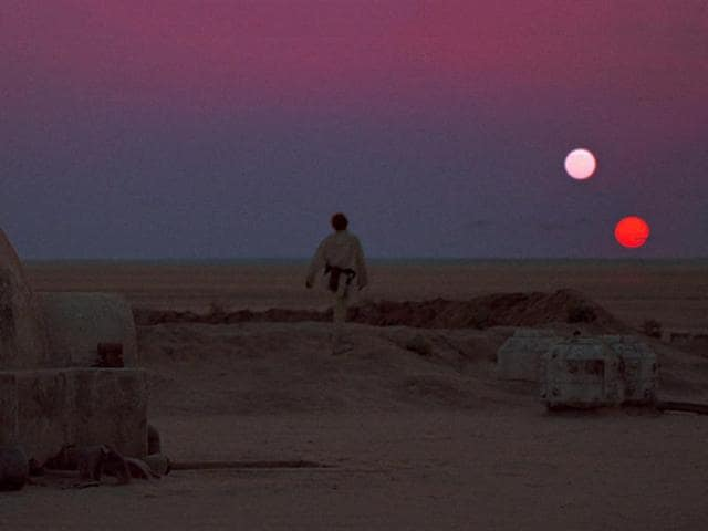 The Tatooine sunset from Star Wars.