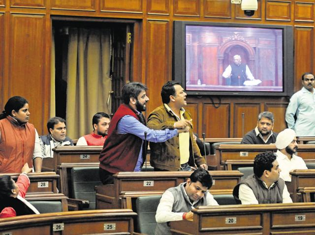 The AAP MLAs termed the decision of a salary hike to be path-breaking in the country's political history, during the Assembly session on Thursday.