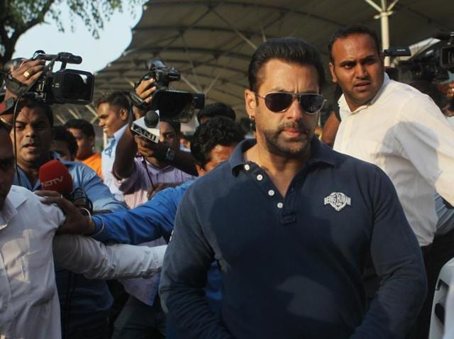 Hollywood actor Salman Khan.  TheSupreme Court has refused to entertain a petition seeking cancellation of Salman's bail in the 2002 hit-and-run case.