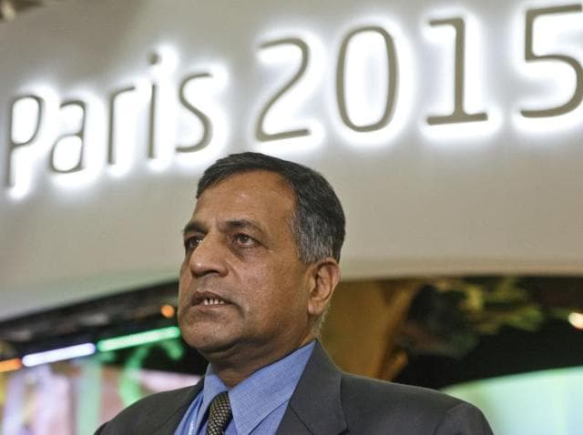 Environment and forests secretary Ashok Lavasa speaks during an interview at the COP21, United Nations Climate Change Conference, in Le Bourget.