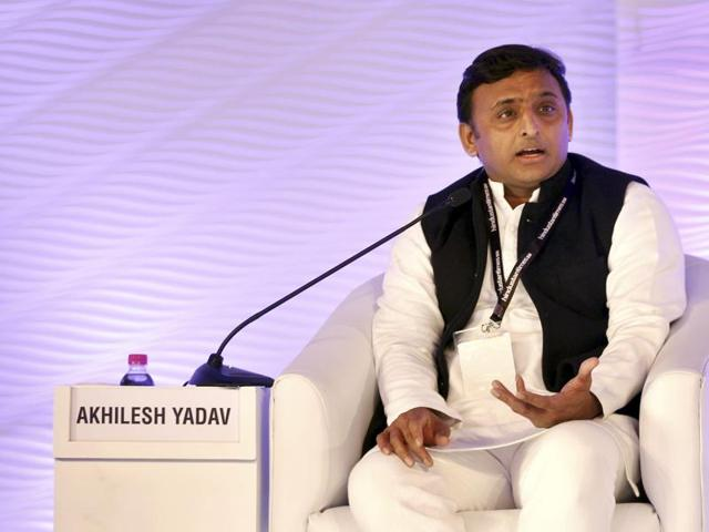 UP  chief minister  Akhilesh Yadav speaks at the Hindustan Times Leadership Summit.