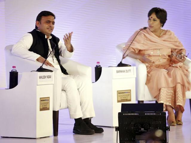 UP chief minister Akhilesh Yadav addresses the 13th HT Leadership Summit.