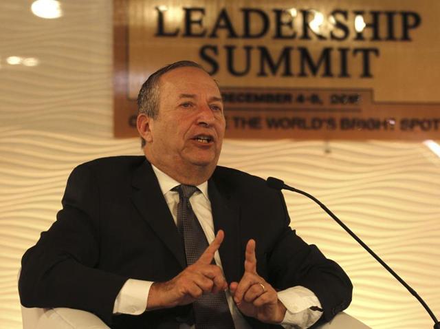 Lawrence Summers,India economy,Hindustan Times Leadership Summit