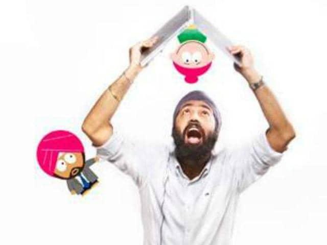 AdMan of 'Sikh Park' comic Dalbir Singh.
