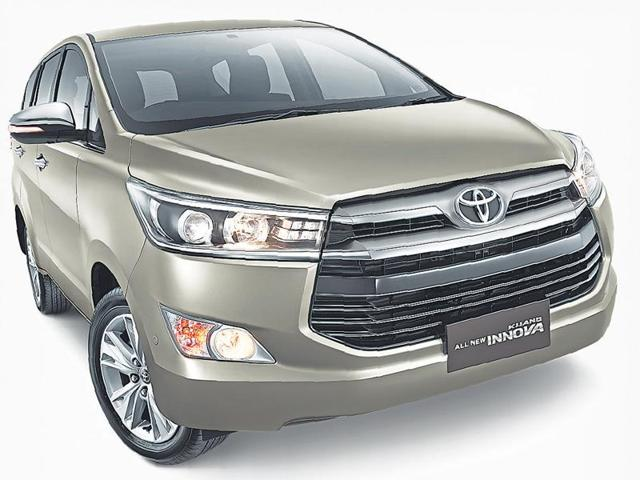 The new Innova looks more like an SUV than a people mover.