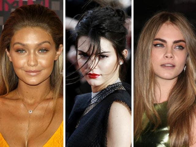 Gigi Hadid, Kendall Jenner, Cara Delevigne and Stella Maxwell.