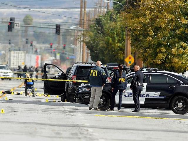 The FBI is investigating the California massacre in which a couple killed 14 people as an 'act of terrorism'.