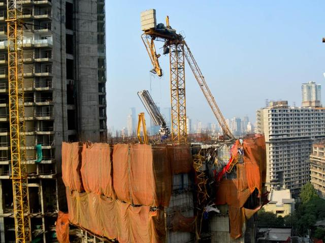 The incident occurred at an under-construction site at Jerbai Wadia Road near Mahatma Phule College in Parel. The 40-storey building is a part of a slum rehabilitation project.