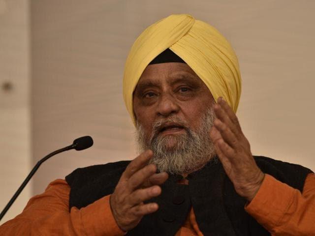 Former India skipper Bedi speaks at the Hindustan Times Leadership Summit on Saturday in New Delhi.