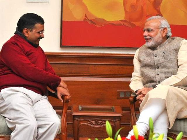 File photo of  Delhi CM  Arvind Kejriwal and Prime Minister Narendra Modi. Kejriwal has recommended a salary hike for the PM.