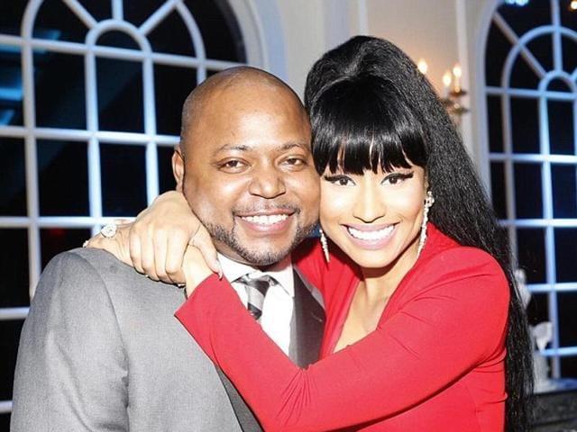 Nicki Minaj with her brother Jelani Maraj.