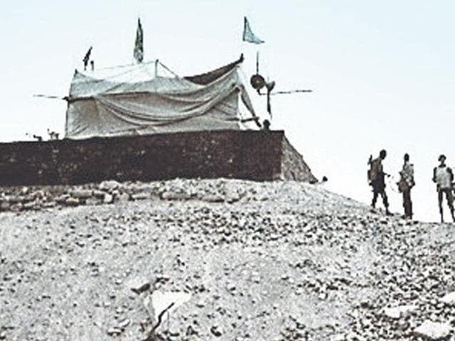 File photo of the makeshift Ram temple in Ayodhya.