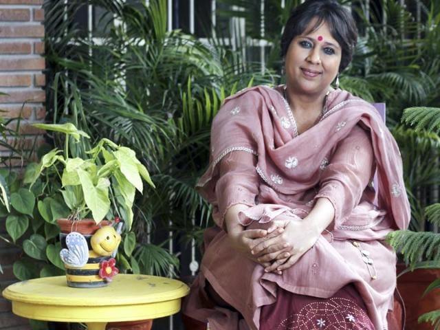 Barkha Dutt at home in New Delhi.