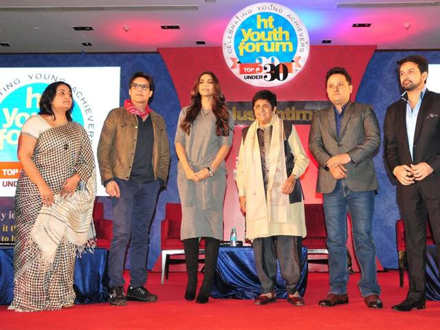 The panellist at the Hindustan Times Youth Forum event held recently.