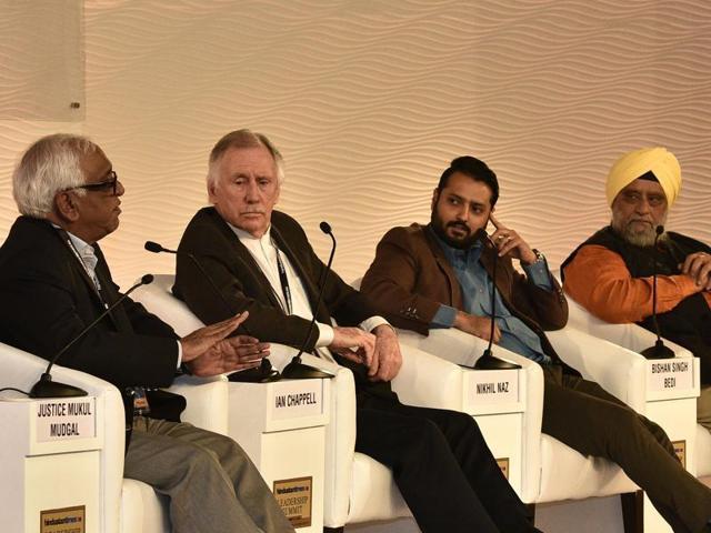 Hindustan Times Leadership Summit 2015,Gautam Gambhir,Ian Chappell