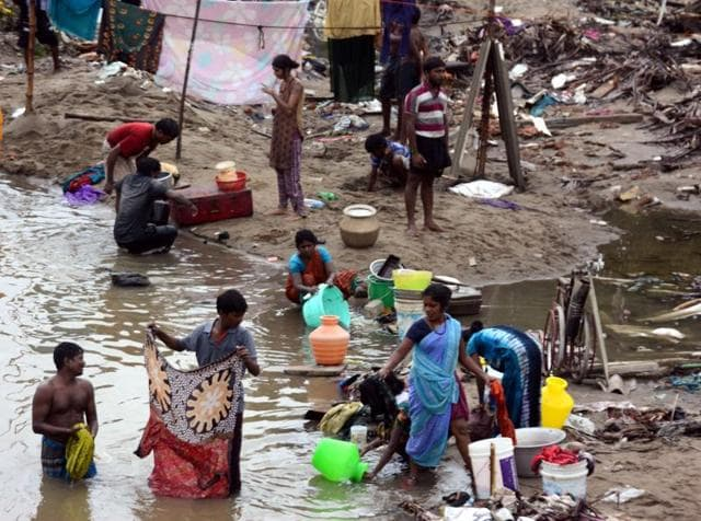 Dalit households were hit the hardest by torrential rainfall and floods in Tamil Nadu's Cuddalore district over the past month due to poverty and discrimination by upper caste villagers.(HT Photo)