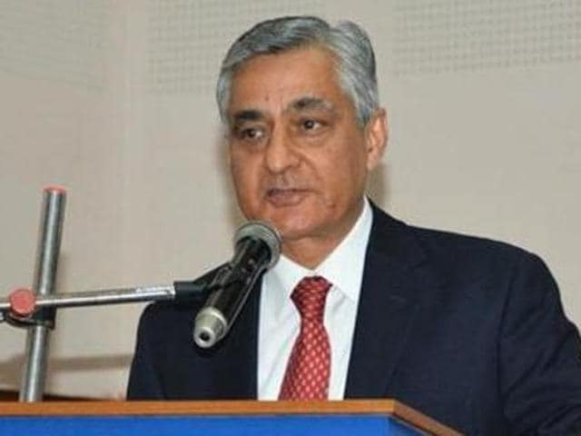 A file photo of Justice TS Thakur speaking at an event.