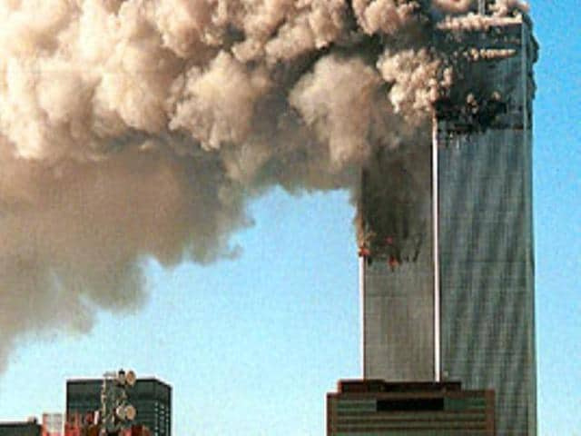 A picture of the World Trade Center on September 11, 2001. More than 14 years after the attacks, the five men accused of being behind the attacks will appear in front of an US military court.