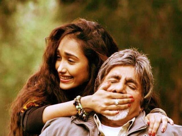 RGVdirected Jiah and Amitabh Bachchan in Nishabd. (YouTube)
