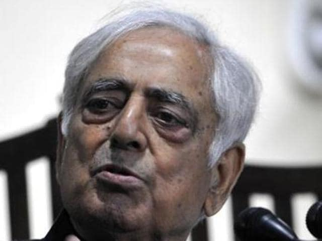 Chief minister Mufti Mohammad Sayeed