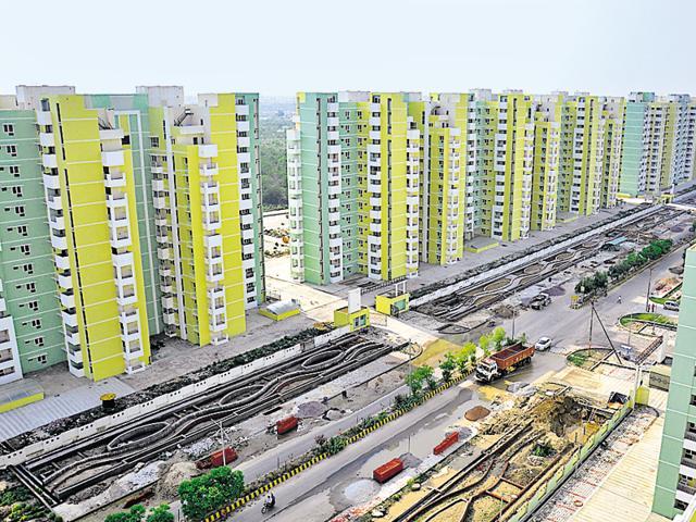 An upcoming project in Gomti Nagar.