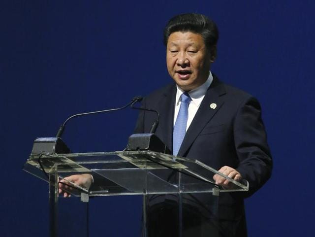 China's President Xi Jinping speaks during a Forum on China-Africa Cooperation in Sandton, Johannesburg.