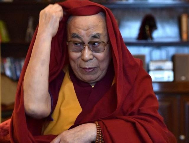 Tibetan Spiritual Leader Dalai Lama speaks during an interview with PTI in Bengaluru on Monday.