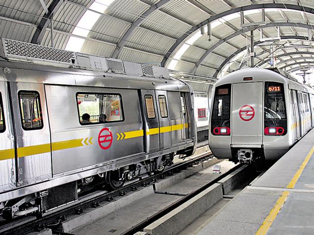 File photo of Chhattarpur metro station in New Delhi.