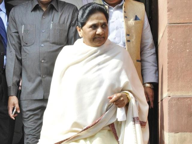 Bahujan Samaj Party (BSP) supremo Mayawati at Parliament House during the winter session, in New Delhi.
