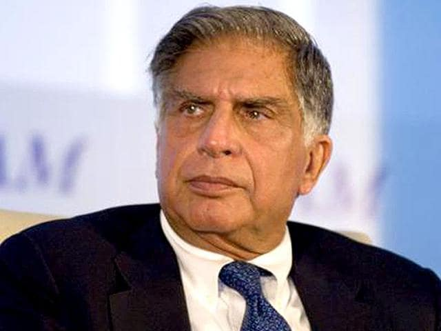 Industrialist Ratan Tata along with founder and CEO of Khan academy, Salman Khan during a press meet to announce their partnership in Mumbai .