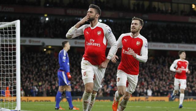 Olivier Giroud scored his first Premier League goal since May 2016.(AFP)