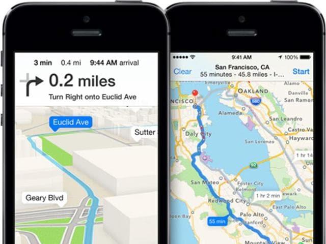 Apple Maps,Google Maps,iPhone