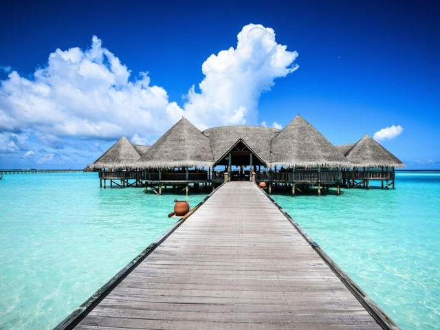 The Maldives has some 1,200 islands, separated into a series of coral atolls.