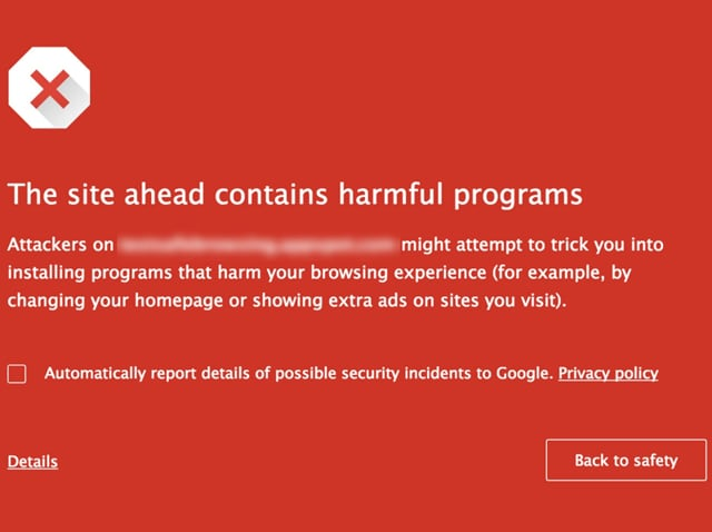 The safe browsing feature from Google that looks like this on the desktop browsers  is now available on the mobile too.