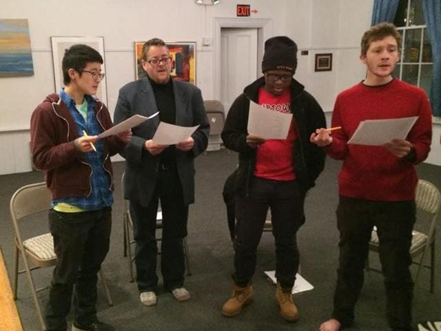 Members of the Butterfly Music Transgender Chorus practice for a performance.