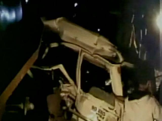 The SUV was crossing the railroad track in Jharkhand when it was hit by the passenger train late Monday night, said SN Pradhan, a top police officer.