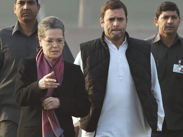 File photo of Congress President Sonia Gandhi and Vice President Rahul Gandhi . The duo may have to appear in a trial court in New Delhi on Tuesday, December 8, 2015, in a case related to the defunct National Herald newspaper.