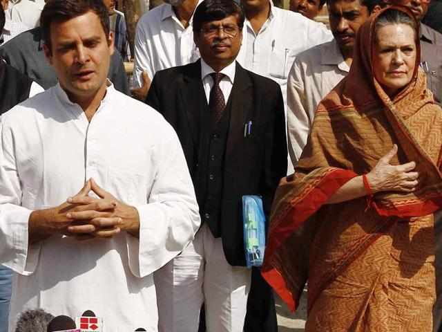 File photo  of Congress President Sonia Gandhi and Vice President Rahul Gandhi.  The Congress president and her son are unlikely to appear before a trial court on Tuesday in the National Herald case.