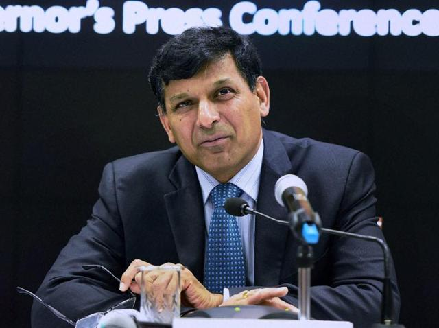 RBI governor Raghuram Rajan speaks during a press conference announcing the RBI monetary policy at RBI Headquarters in Mumbai.