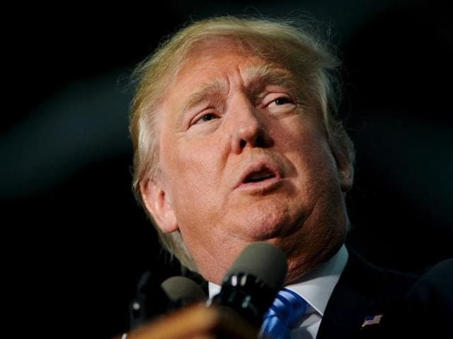 Republican frontrunner Donald Trump called for a complete ban on Muslims entering the US.