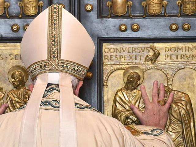 Pope Francis opens a