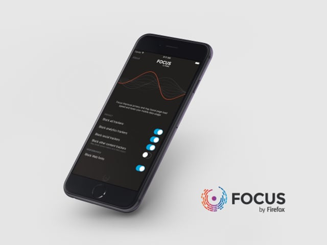 Focus by Firefox blocks ads in Apple's Safari browser on iOS but not in Mozilla's own Firefox browser. Mozilla says that this was not a choice it made -- it's an Apple limitation.