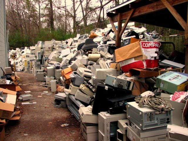 E-waste in India is growing three times faster than any  other solid waste.